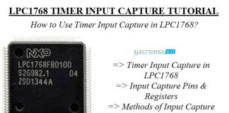 Timer Input Capture trên chip LPC1768